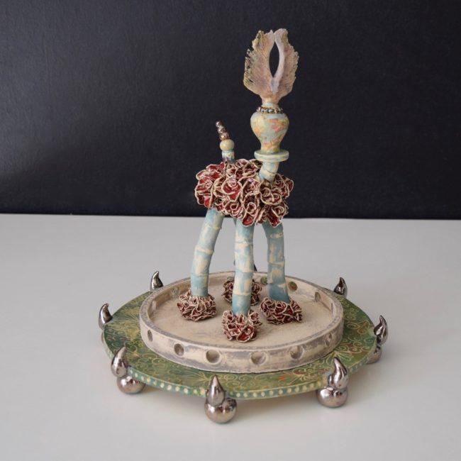 Keramiek miniatuur H. Bouquet 32 cm